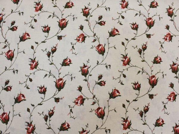 """Фото 7 - Льняная набивная ткань """"зайцевская роза""""-2."""