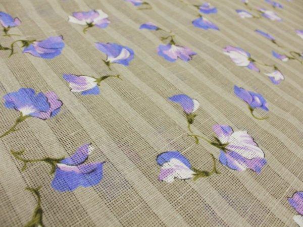 """Фото 6 - Ткань портьерная """"Душистый горошек"""" голубой ( грунт)."""