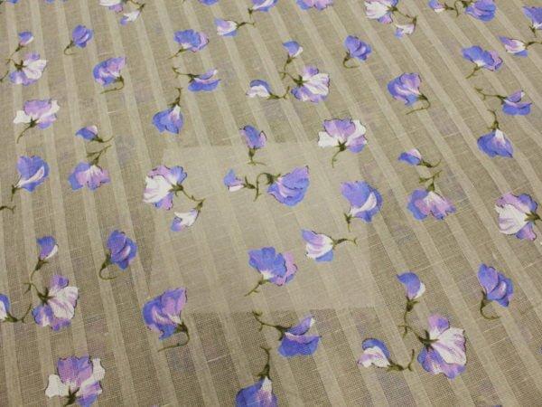 """Фото 8 - Ткань портьерная """"Душистый горошек"""" голубой ( грунт)."""