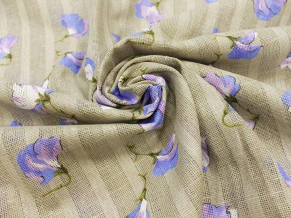 """Фото 7 - Ткань портьерная """"Душистый горошек"""" голубой ( грунт)."""