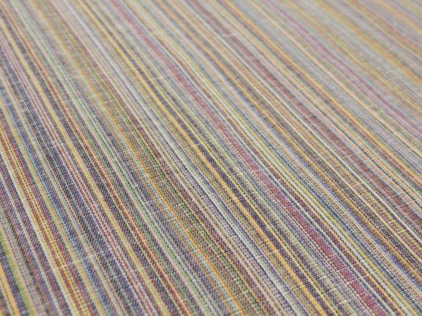 Фото 4 - Ткань льняная с цветными просновками, ширина 150 см.