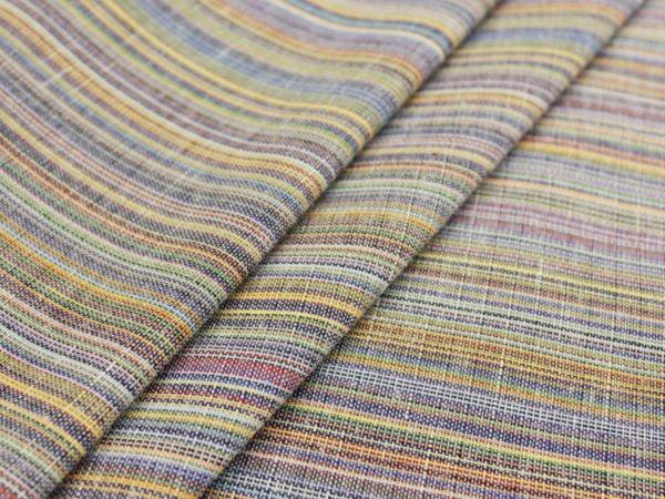 Фото 3 - Ткань льняная с цветными просновками, ширина 150 см.