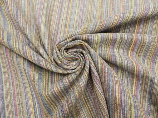 Фото 6 - Ткань льняная с цветными просновками, ширина 150 см.