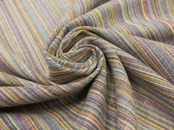 Фото 8 - Ткань льняная с цветными просновками, ширина 150 см.