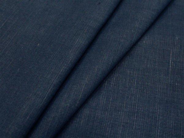 Фото 5 - Ткань льняная синяя.