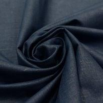 Ткань льняная синяя