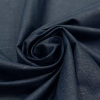 Фото 29 - Ткань льняная синяя.