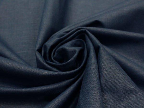 Фото 3 - Ткань льняная синяя.