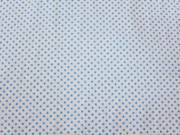 Фото 6 - Поплин голубой  горошек  на белом.