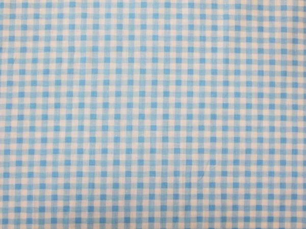 Фото 4 - Поплин в  клеточку , голубой.
