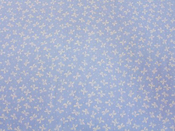 """Фото 6 - Бязь плательная """"Бантики"""" на голубом."""
