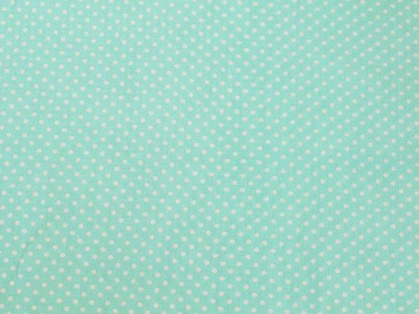 Фото 7 - Ткань плательная очень мелкий  горох  на мятном.