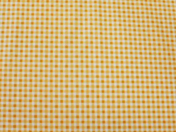 Фото 6 - Поплин в  клеточку , оранжевый.
