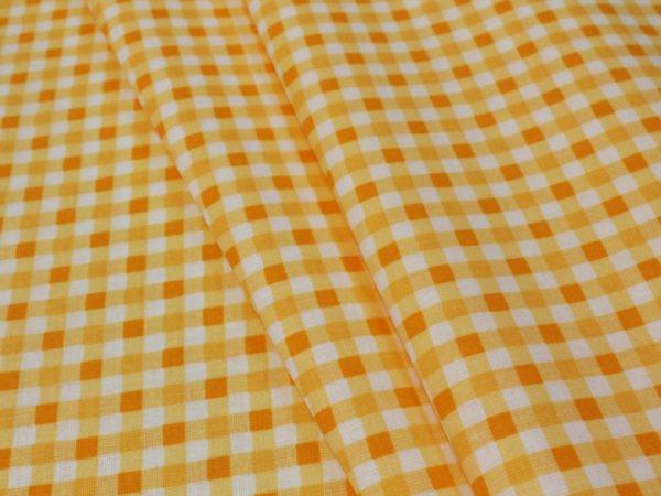 Фото 4 - Поплин в  клеточку , оранжевый.