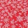 """Фото 8 - Поплин """"Снежинки красные""""."""