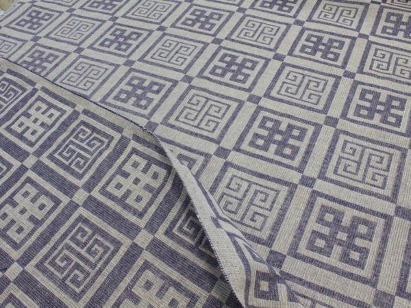 """Фото 5 - Ткань декоративная льняная """"Греция"""" синяя."""