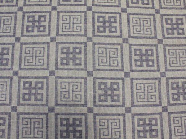 """Фото 6 - Ткань декоративная льняная """"Греция"""" синяя."""