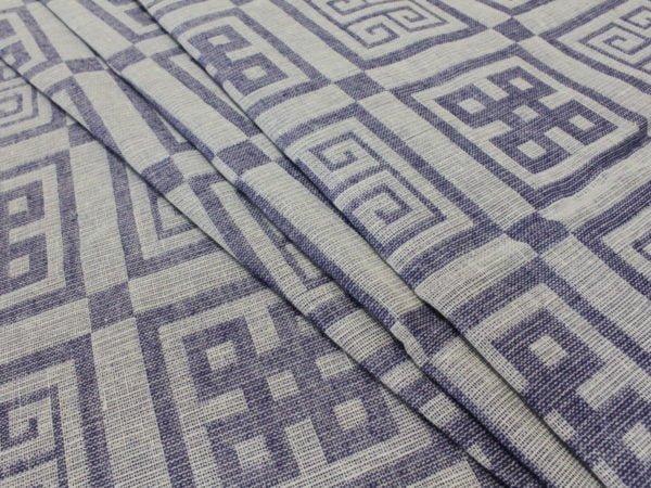 """Фото 3 - Ткань декоративная льняная """"Греция"""" синяя."""
