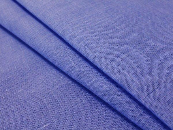Фото 6 - Ткань льняная  голубая ширина 2,2м лен 100%.