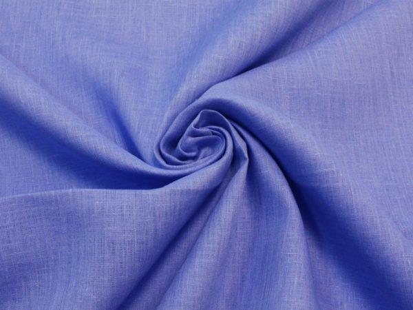 Фото 5 - Ткань льняная  голубая ширина 2,2м лен 100%.