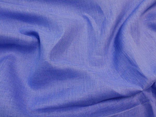 Фото 3 - Ткань льняная  голубая ширина 2,2м лен 100%.
