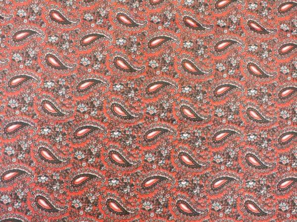 """Фото 6 - Ткань плательная """"Огурцы красные"""" лоскут."""