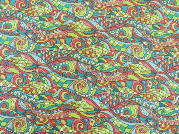 """Фото 5 - Ткань плательная """"Мозаика"""" лоскут."""