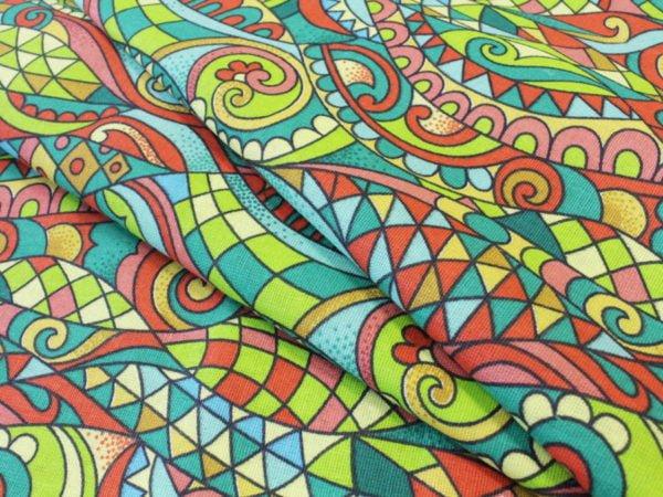 """Фото 3 - Ткань плательная """"Мозаика"""" лоскут."""
