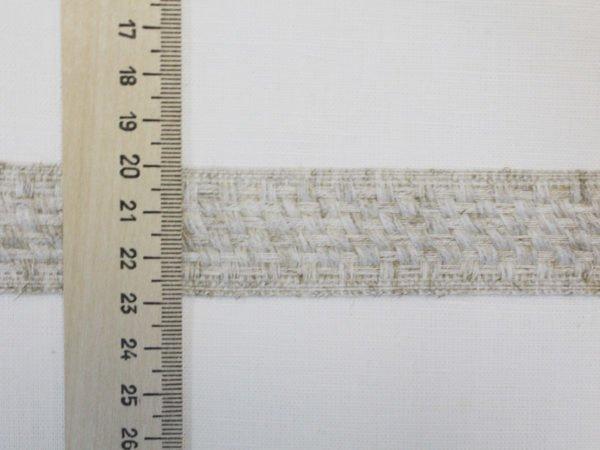 Фото 6 - Лента   отделочная 30 мм, лен 100%.