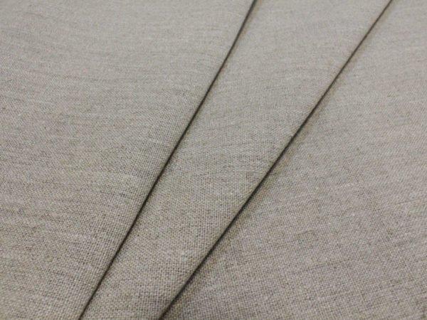 Фото 5 - Льняная ткань для постельного белья цвета небеленого льна, ширина 2.2м.
