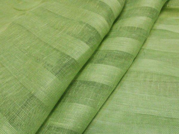 Фото 3 - Вуаль светло-зеленая, ширина 2.6м  лен 100%.