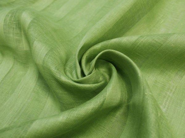 Фото 9 - Вуаль светло-зеленая, ширина 2.6м  лен 100%.
