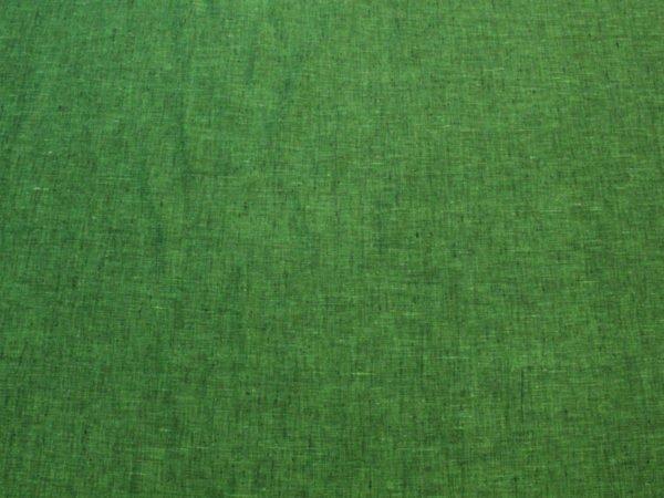 Фото 7 - Льняная ткань зеленая, ширина 2.6м лен 100%.