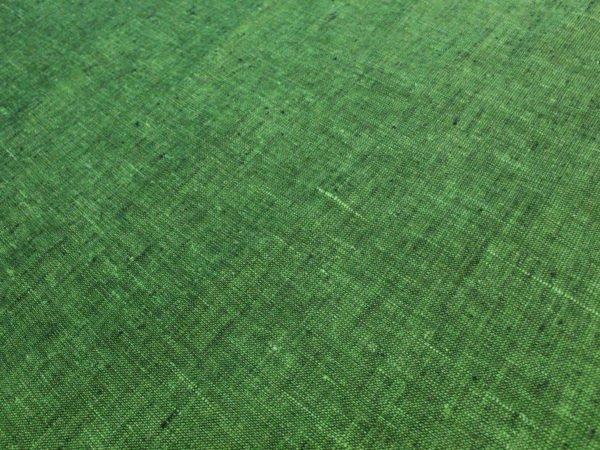 Фото 8 - Льняная ткань зеленая, ширина 2.6м лен 100%.