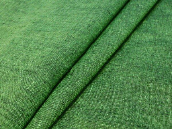 Фото 3 - Льняная ткань зеленая, ширина 2.6м лен 100%.
