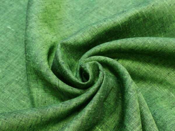 Фото 5 - Льняная ткань зеленая, ширина 2.6м лен 100%.