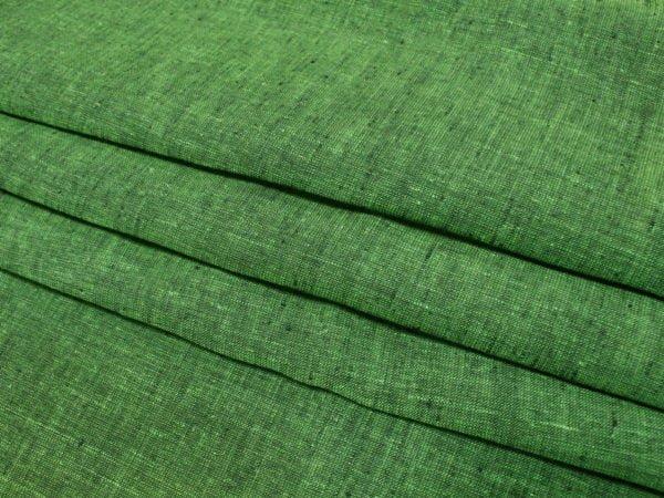 Фото 6 - Льняная ткань зеленая, ширина 2.6м лен 100%.