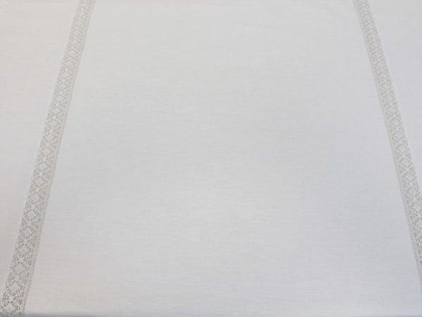 Фото 7 - Скатерть льняная с  кружевной  прошвой с салфетками.