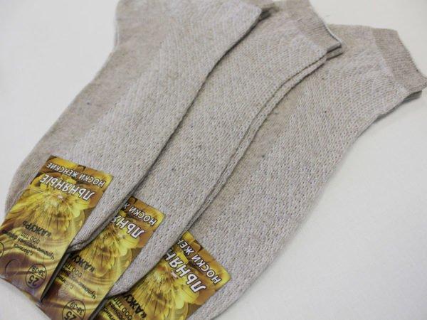 Фото 3 - Ажур носки женские с-95 лён.