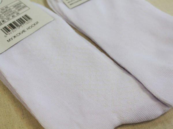 Носки мужские А-9 хлопок 100% белые