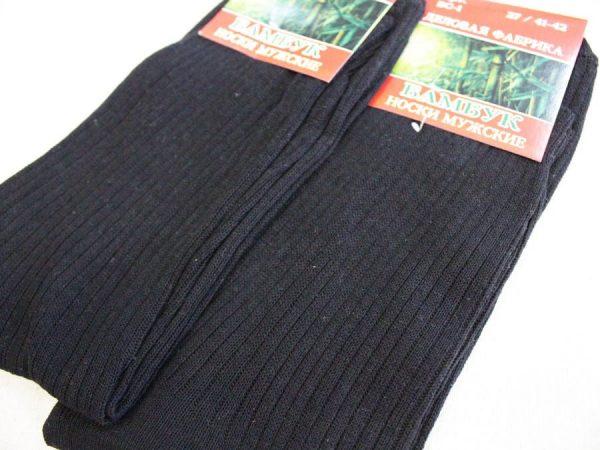 Фото 3 - Носки мужские с бамбуком БС-1 черные.
