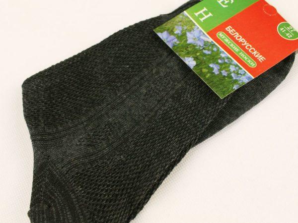 Носки мужские лён тёмно-серые