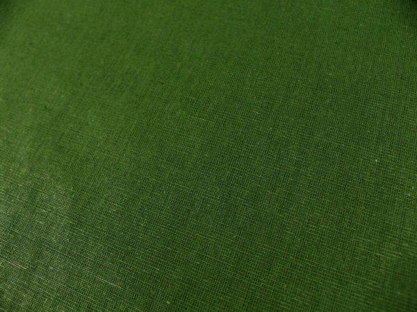 Фото 5 - Ткань льняная зеленая.