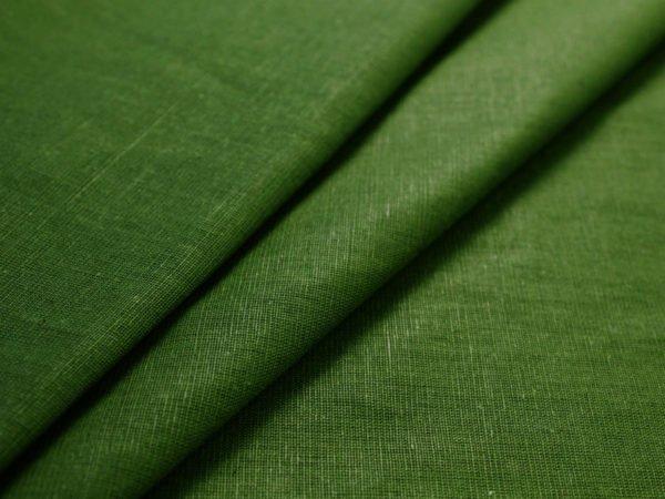 Фото 7 - Ткань льняная зеленая.