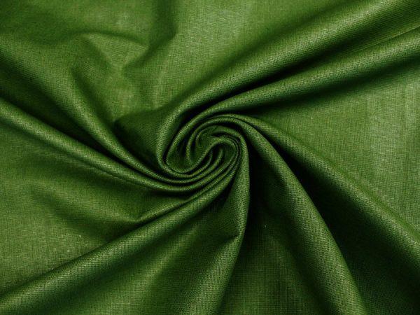Фото 3 - Ткань льняная зеленая.