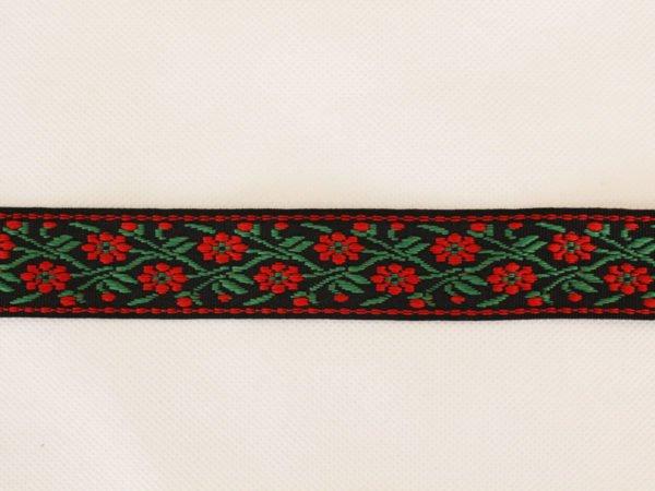 Фото 7 - Лента отделочная жаккард (черный, красный, зеленый) 26мм.