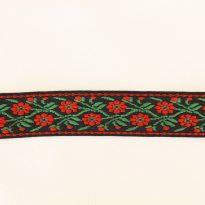 Лента отделочная жаккард (черный, красный, зеленый) 26мм