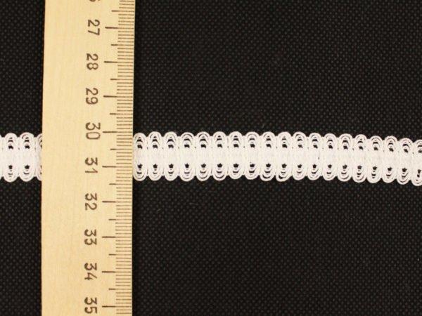 Фото 6 - Кружево белое 13 мм хлопок/пэ.