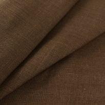 Фото 19 - Ткань льняная плотная,  лен 100%, коричневая, ширина 180см.