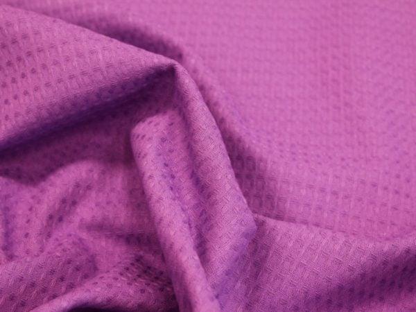 """Фото 7 - Вафельное полотно """"Домашнее""""  (ярко - фиолетовый)."""